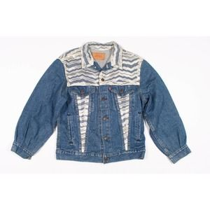 Vintage Levis Made In USA Jean Lace Trim Jacket